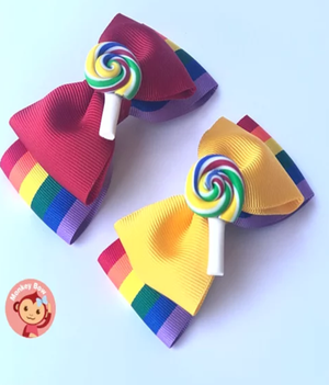 Candy Bow - Lollipop Pinch (Small)