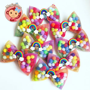 *Star Item* Pominnie Bow - Happy Rainbow (Medium)
