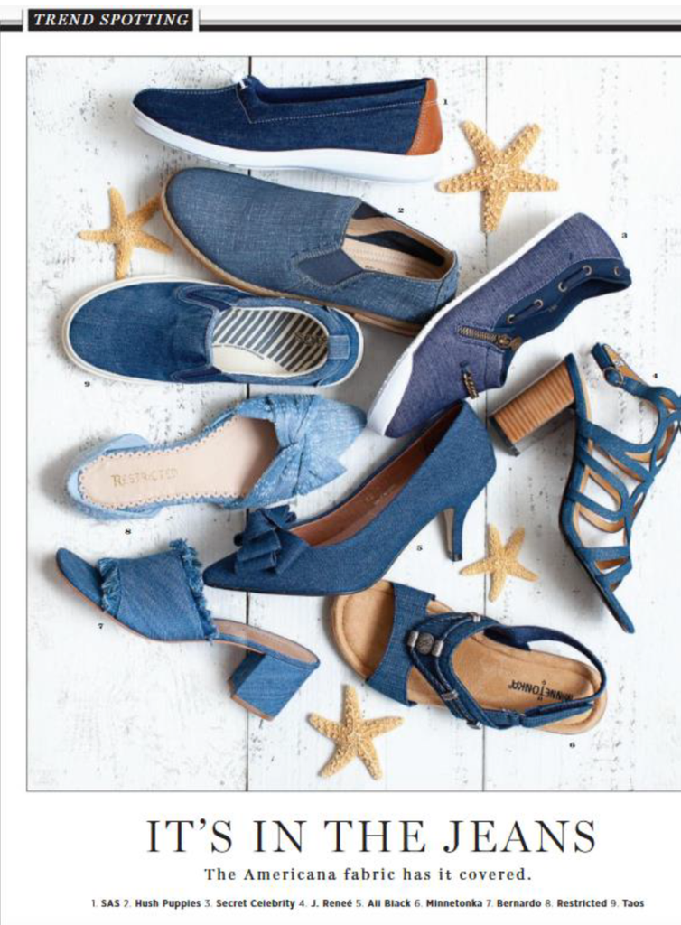 Stella denim flats by Secret Celebrity