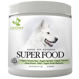 Superfood for dogs by Earth Vet - A supplement to help with energy, health, skin, nails and overall improvement.