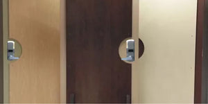 Bullet-resistant door protection to stop Intruders.