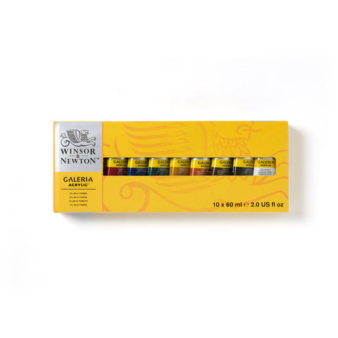 Winsor & Newton Galeria Acrylic 10 x 60ml Tube Set