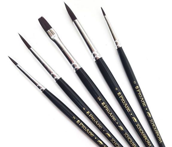 Proarte Brush Pack - Scholarcryl Oil & Acrylic Set 36WA