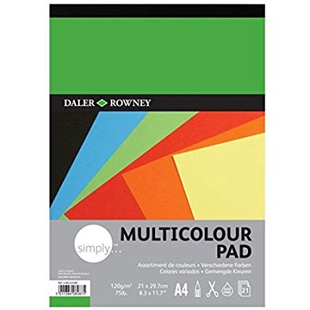 Daler Rowney Simply Multicolour Paper Pad