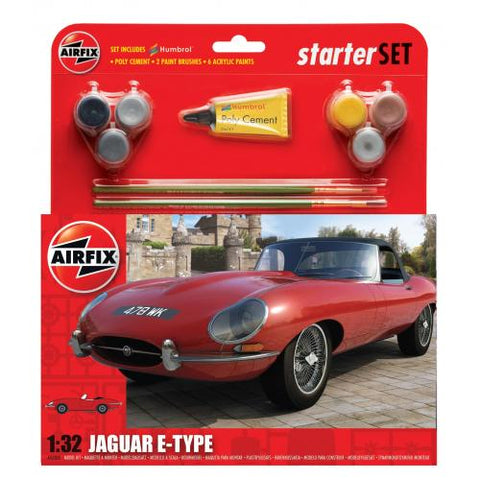 Airfix 1:32 Jaguar E Type Starter Set 55200