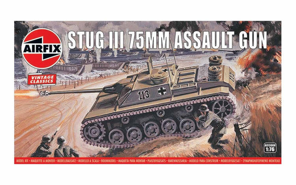 Airfix Stug III 75mm Assault Gun 1:76 Model Kit A01306V