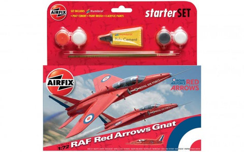 Airfix 1:72 RAF Red Arrows Gnat Starter Set 55105