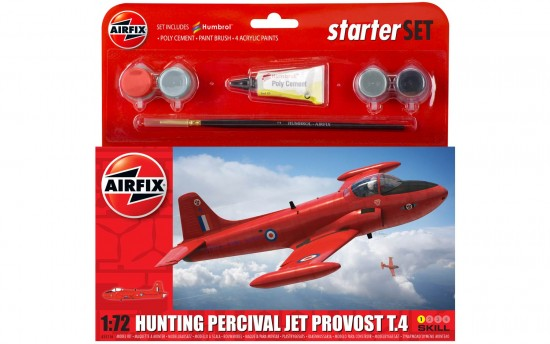 Airfix 1:72 Hunting Percival Jet Provost T.4 Starter Set  55116