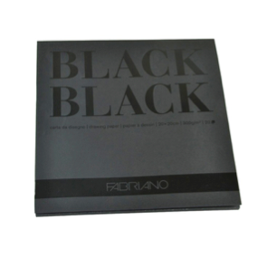Fabriano Black Black Drawing Paper Pad