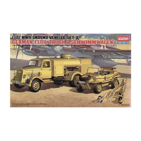 Academy 13401 German Fuel Tank & Schwimmwagen 1:72 Art Materials
