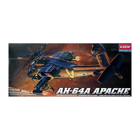 Academy Ac12488 Ah-64A Helicopter 1:72 Art Materials