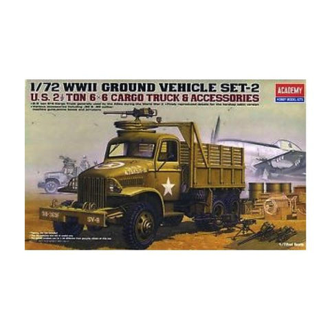 Academy Us 2.5 Ton Cargo Truck & Accessories Kit - 1:72 Ay13402 Art Materials