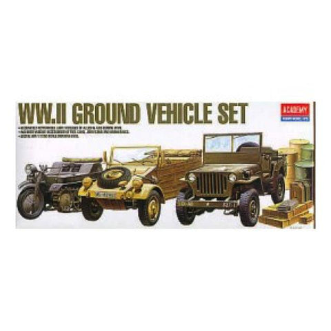 Academy Wwii Ground Vehicle Set - 1:72 Ay13416 Art Materials
