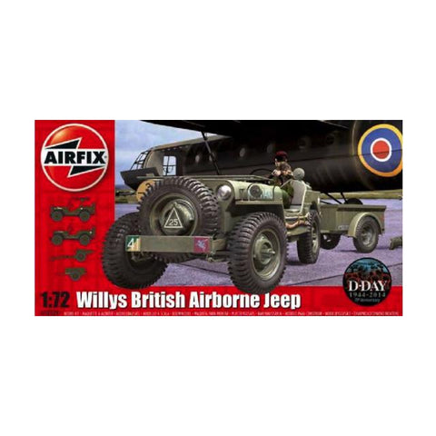 Airfix British Airbourne Willys Jeep Kit - 1:72 A02339 Art Materials