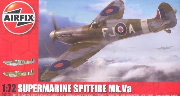 Airfix Supermarine Spitfire Mk Va Kit - 1:72 A02102 Art Materials
