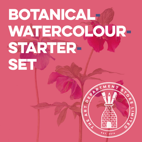 Botanical Watercolour Painting Starter Set Art Materials