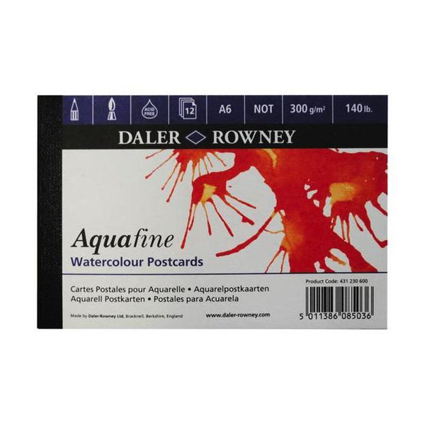 Daler Rowney Aquafine A6 Watercolour Postcard Book Art Materials
