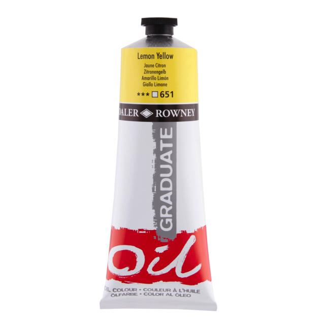 Daler Rowney Graduate Oil Colour 200Ml Lemon Yellow Art Materials