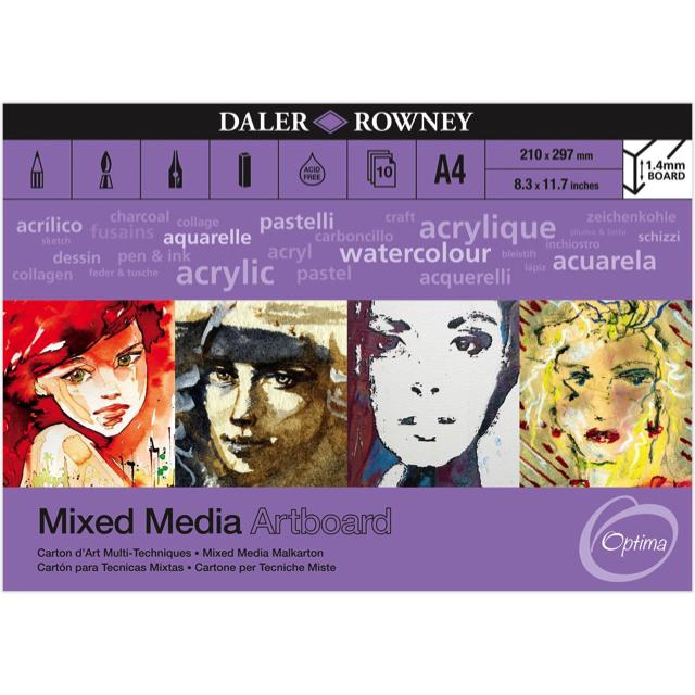 Daler Rowney Mixed Media Artboard Pad Art Materials