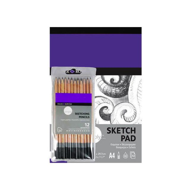 Daler Rowney Simply A4 Sketching Art Pack Art Materials