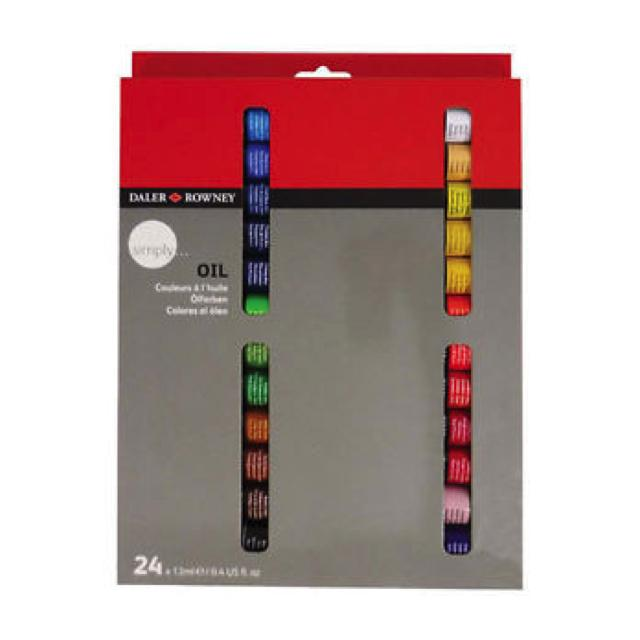 Daler Rowney Simply Oil Tube Set - 24 X 12Ml Art Materials