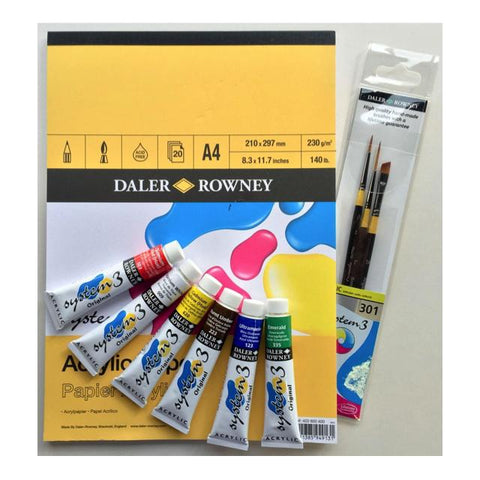 Daler Rowney System 3 Artists Gift Set Art Materials
