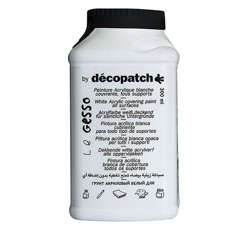 Decopatch Acrylic White Gesso - 300G Art Materials