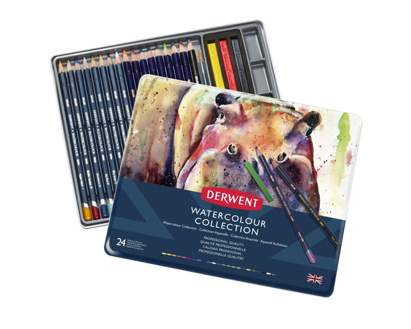 Derwent Watercolour Collection Tin Art Materials
