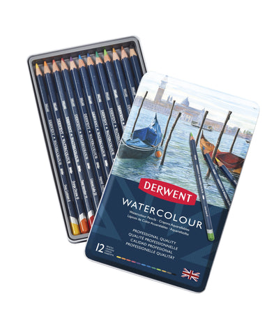 Derwent Watercolour Pencils 12 Tin Art Materials