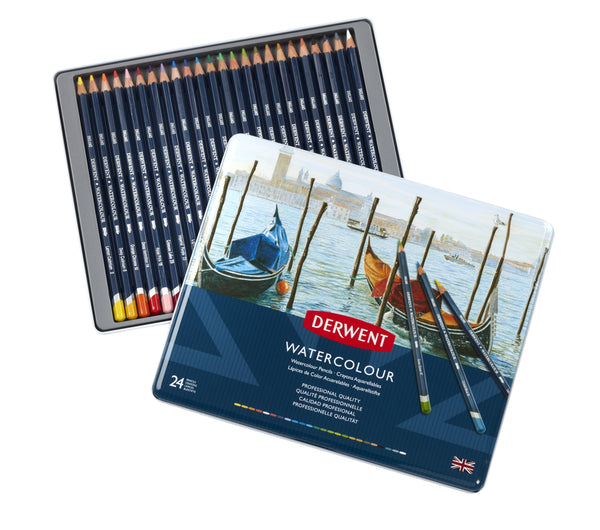 Derwent Watercolour Pencils 24 Tin Art Materials