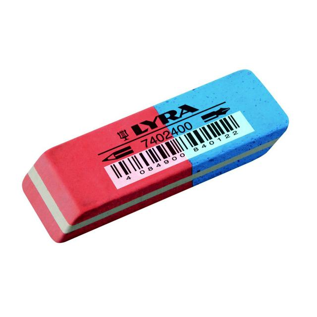 Fila Lyra Blue & Red Traditional Eraser Art Materials