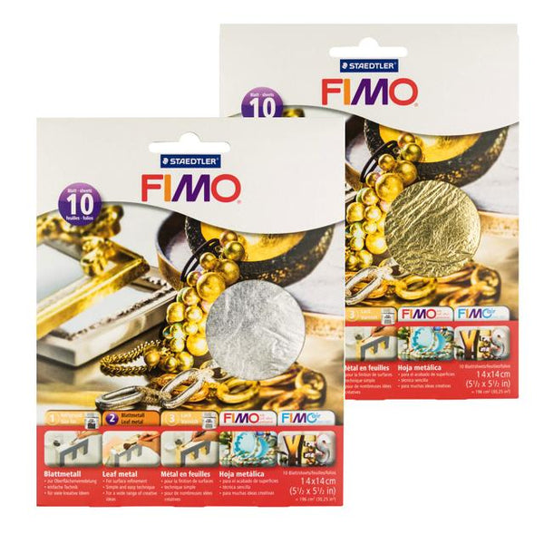 Fimo Leaf Metal - 14X14Cm 10 Sheet Pack Art Materials