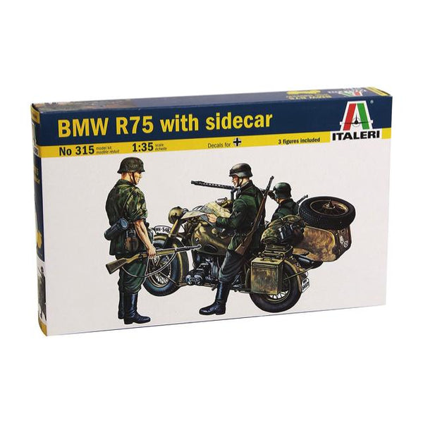 Italeri 315 Bmw R75 With Sidecar 1:35 Art Materials
