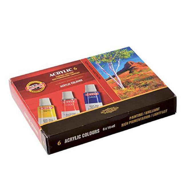 Koh-I-Noor Acrylic 6 X 16Ml Set Art Materials