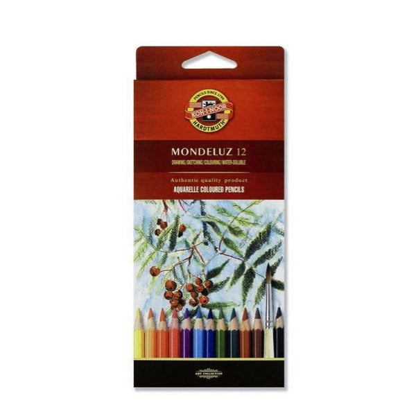 Koh-I-Noor Mondeluz Aquarelle Coloured Pencil 12 Box Art Materials