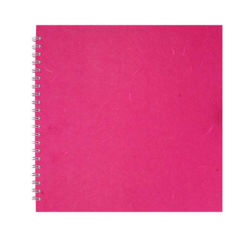 Pink Pig Posh Landscape Sketchbook A6 (Off White Paper) Bright Pink Art Materials