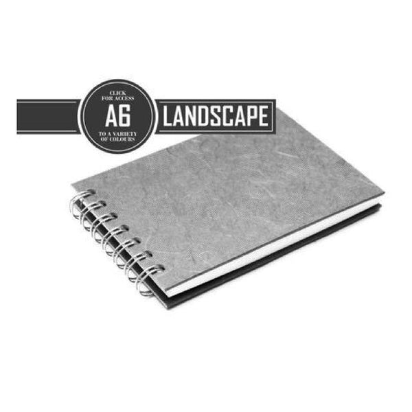 Pink Pig Posh Landscape Sketchbook A6 (White Paper) Art Materials