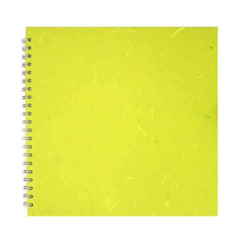 Pink Pig Posh Portrait Sketchbook A4 (White Paper) Lime Green Art Materials