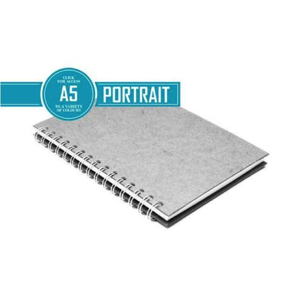 Pink Pig Posh Portrait Sketchbook A5 (White Paper) Art Materials