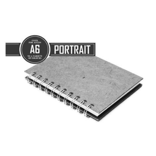 Pink Pig Posh Portrait Sketchbook A6 (Off White Paper) Art Materials