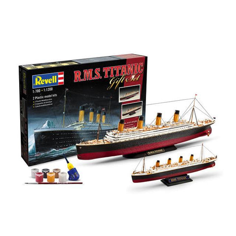 Revell 05727 Rms Titanic Gift Set 1:700 & 1:1200 Art Materials