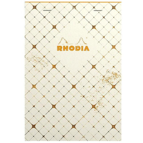 Rhodia Heritage Head Stapled Notepad White Quadrille / Lined Art Materials