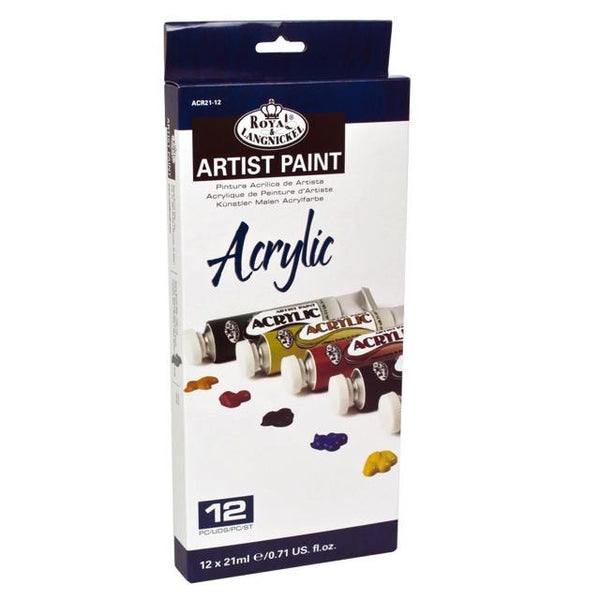 Royal & Langnickel Artist Acrylic Paint Tube Pack 12 X 21Ml Art Materials