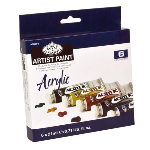 Royal & Langnickel Artist Acrylic Paint Tube Pack 6 X 21Ml Art Materials