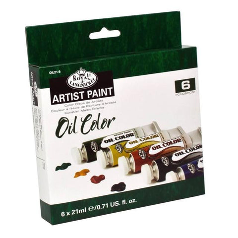 Royal & Langnickel Artist Oil Paint Tube Set 6 X 21Ml Art Materials