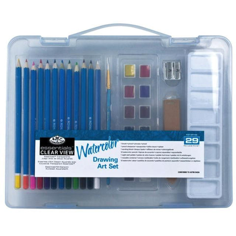 Royal & Langnickel Essentials Watercolour Pencil Clamshell Pack Art Materials