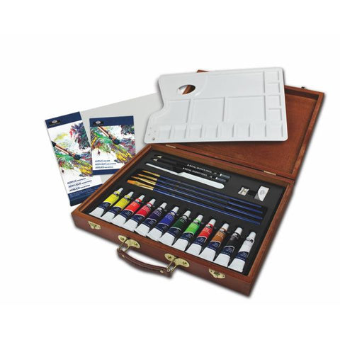 Royal & Langnickel Essentials Wooden Art Box Set Acrylic Art Materials