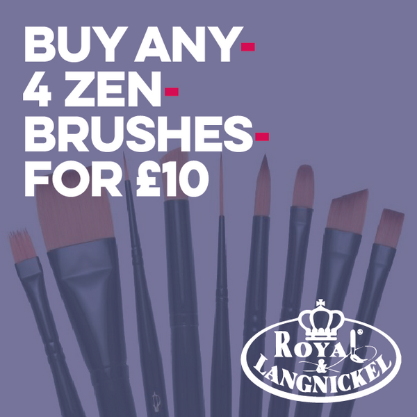 Royal & Langnickel Zen All Media Paintbrush Art Materials