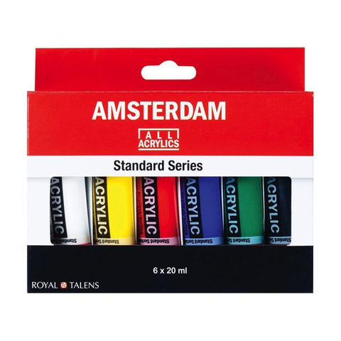 Royal Talens Amsterdam Standard Series 6 X 20Ml Acrylic Set Art Materials