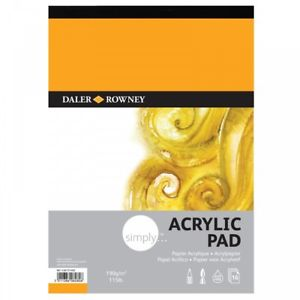 Daler Rowney Simply 190gsm A3 Acrylic Painting Pad